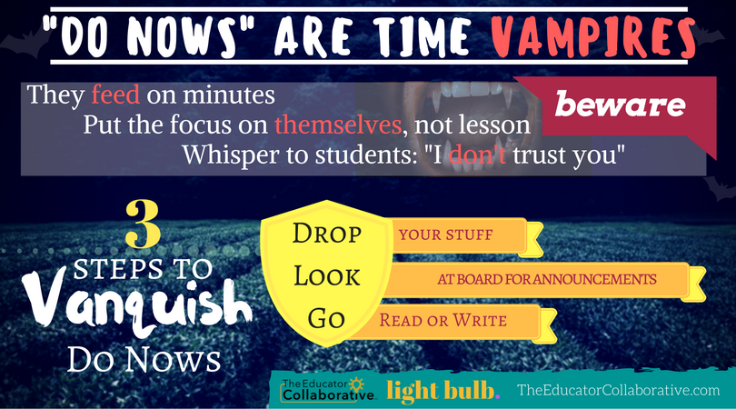 Vanquish the Time Vampires: Bell Ringers and Do Nows